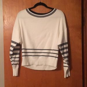 Express off white and navy sweater